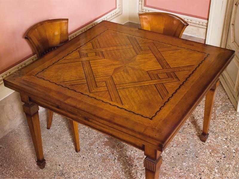 Tavolo Quadrato Allungabile In Noce.Rudiana Interiors Italian Charming Furniture